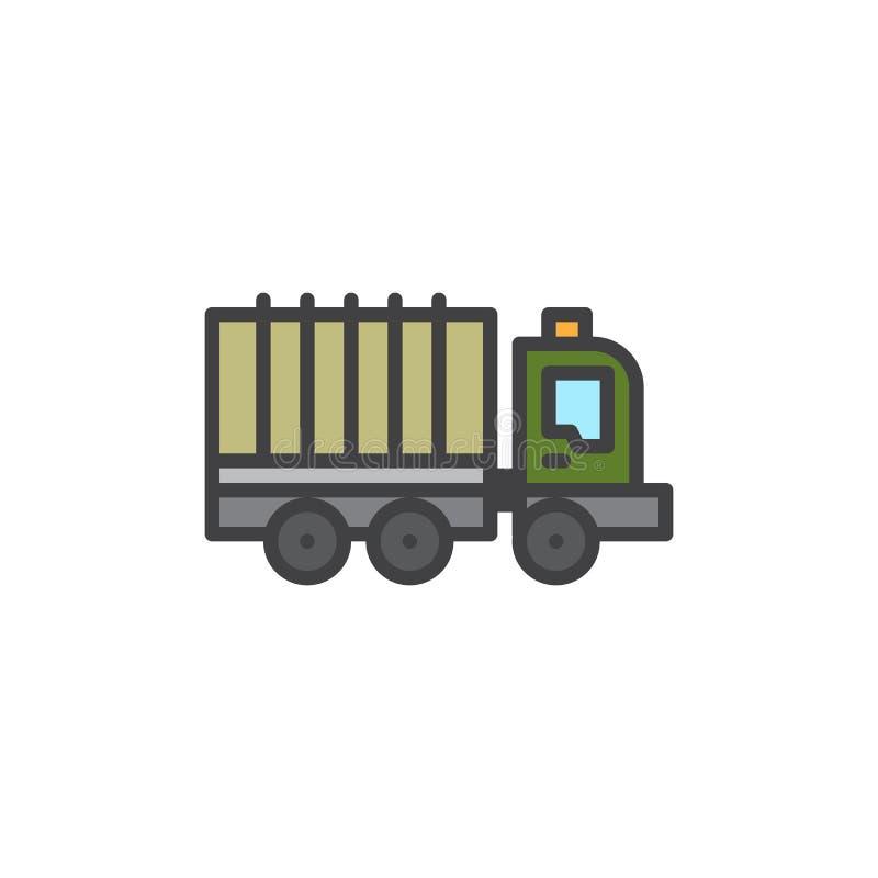 Icono llenado camión del esquema libre illustration