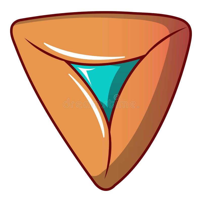 Icono llenado de la galleta, estilo de la historieta stock de ilustración