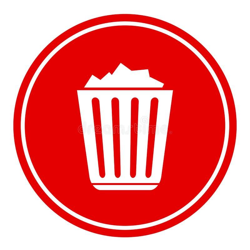 Icono llenado de la papelera de reciclaje ilustración del vector