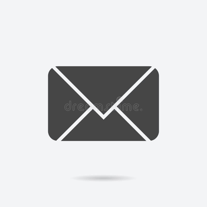 Icono llenado del correo electrónico Ejemplo del vector del correo electrónico para el diseño gráfico stock de ilustración