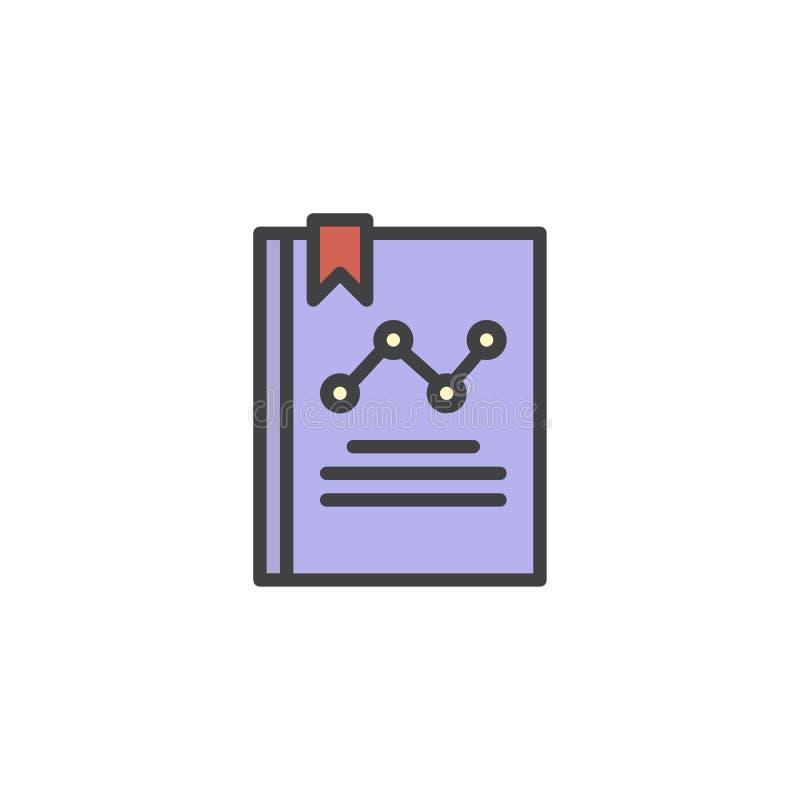 Icono llenado libro del esquema del Analytics libre illustration