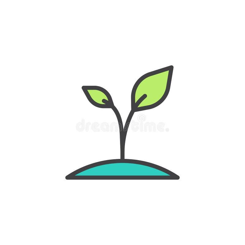 Icono llenado planta del esquema ilustración del vector