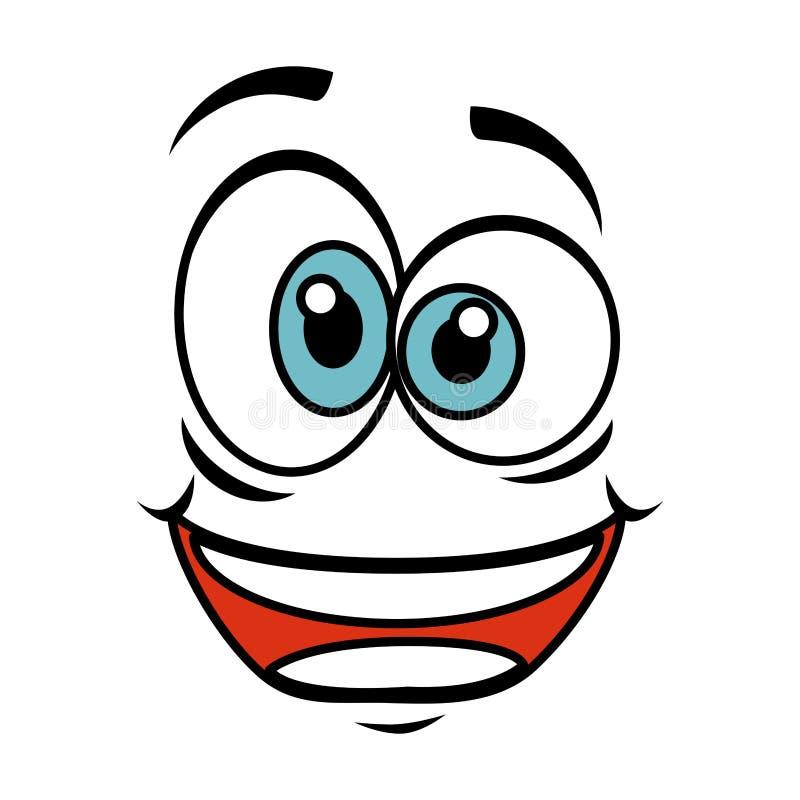 Icono loco del emoticon de la cara libre illustration