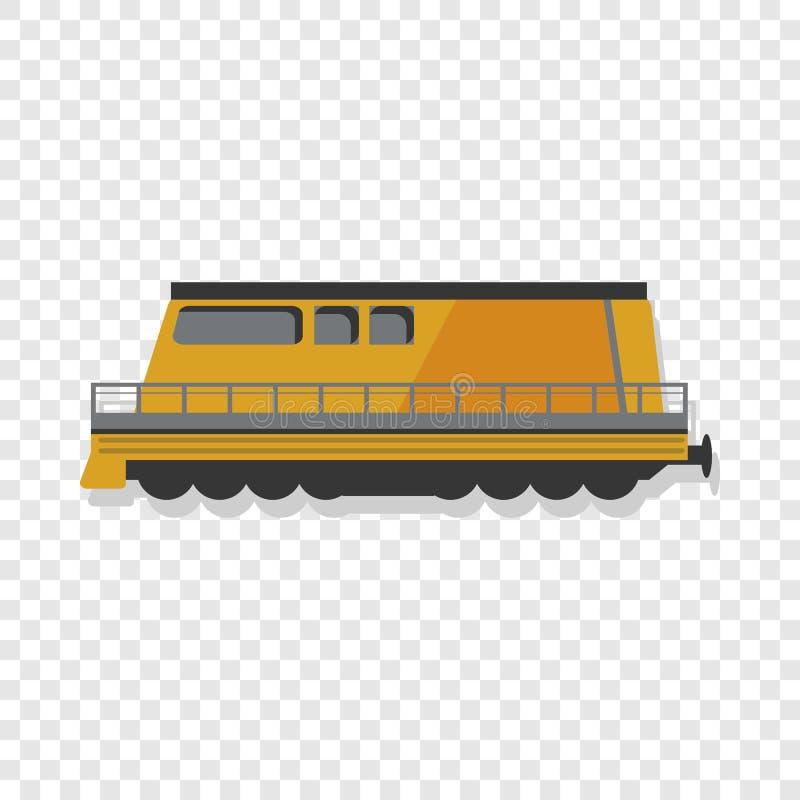 Icono locomotor moderno, estilo de la historieta stock de ilustración