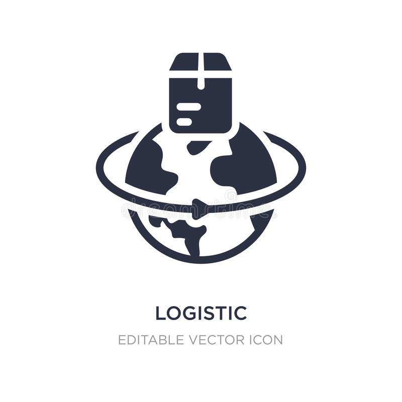 icono logístico en el fondo blanco Ejemplo simple del elemento del concepto del negocio libre illustration