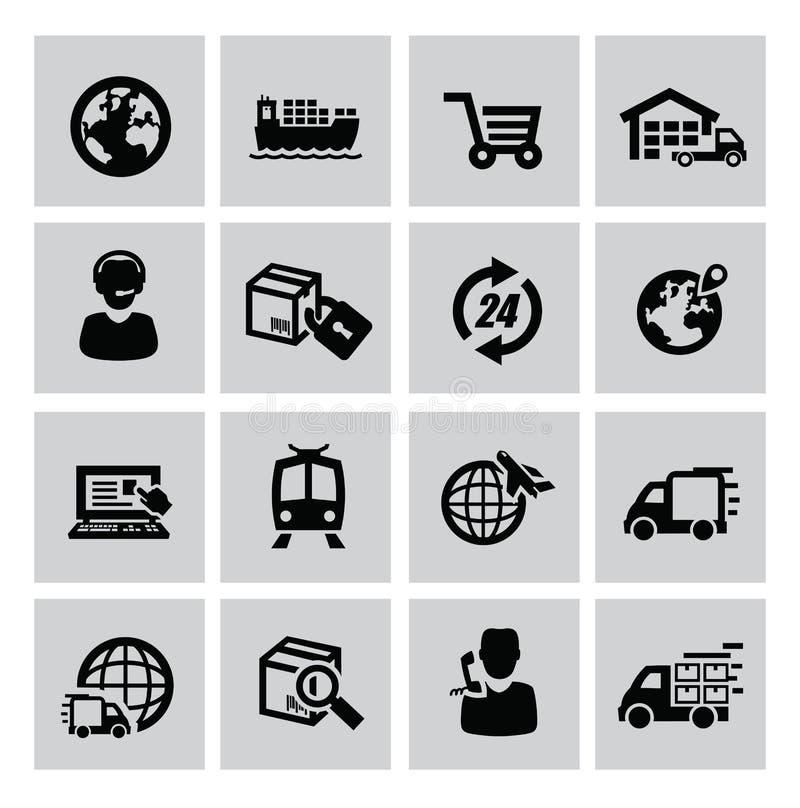 Icono logístico y del envío stock de ilustración