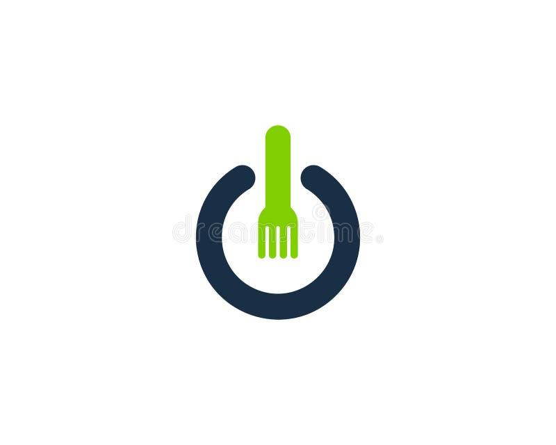 Icono Logo Design Element de la energía del poder de la comida ilustración del vector