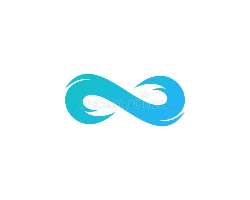 Icono Logo Design Element de la onda del infinito stock de ilustración