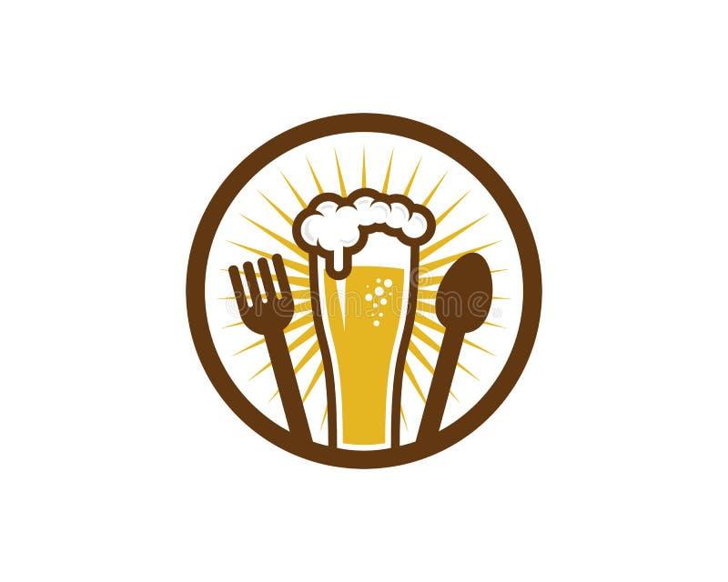 Icono Logo Design Element del oso de la comida stock de ilustración