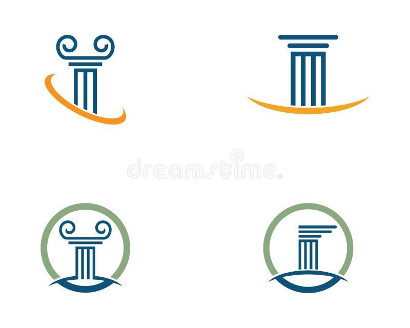 Icono Logo Template de la columna stock de ilustración