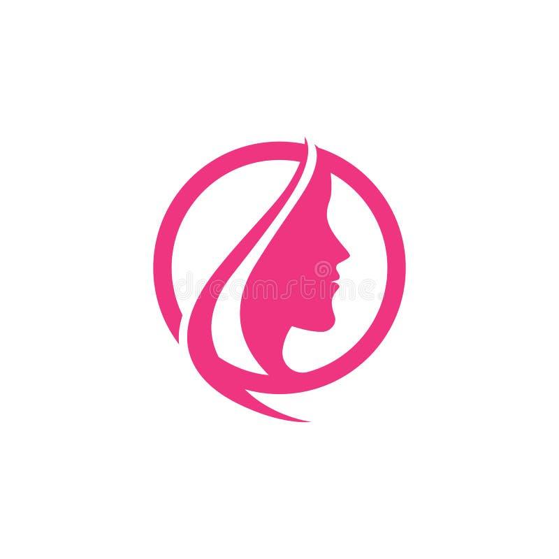 Icono Logo Template de las mujeres de la belleza ilustración del vector
