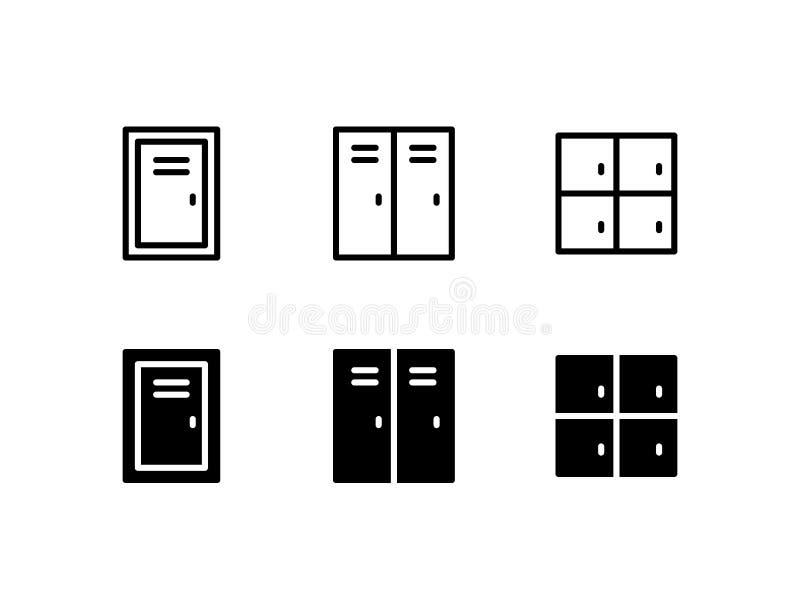Icono Logo Vector Symbol del armario Icono de la puerta aislado en el fondo blanco stock de ilustración