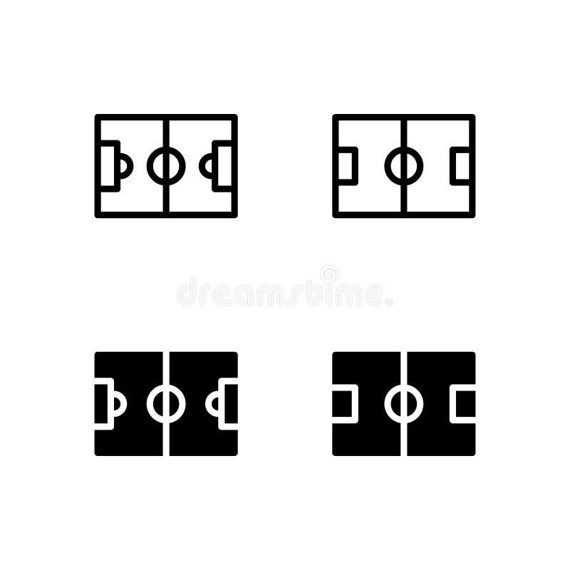 Icono Logo Vector Symbol Isolated del campo de fútbol en el fondo blanco stock de ilustración
