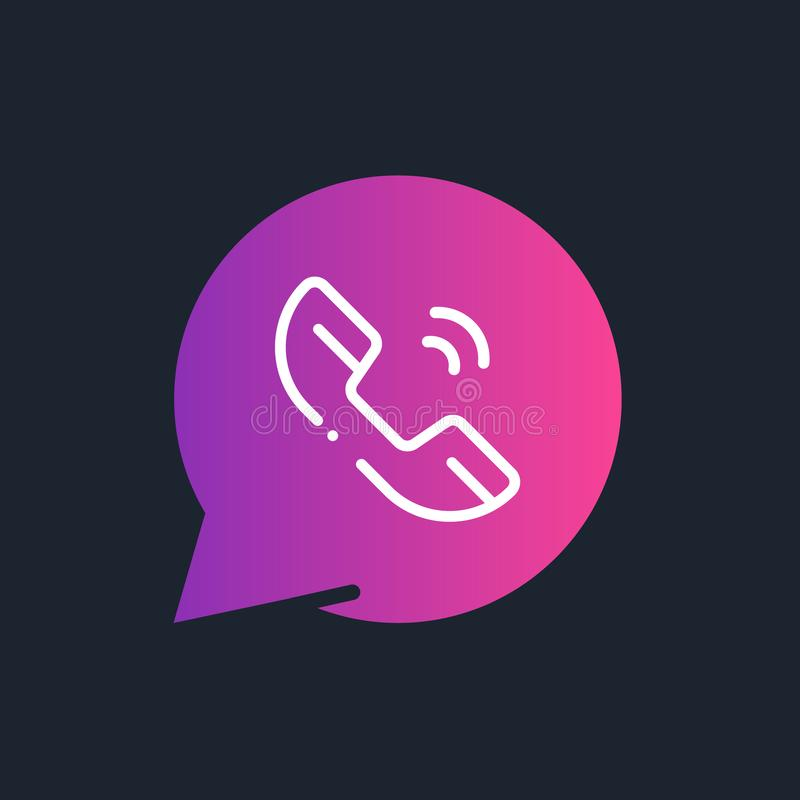 Icono/logotipo del registrador de la llamada Ejemplo del arte libre illustration