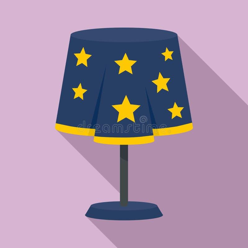 Icono mágico de la lámpara de escritorio, estilo plano libre illustration