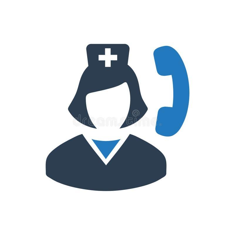 Icono médico de la llamada stock de ilustración