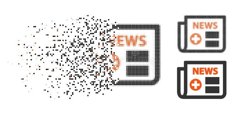Icono médico de semitono punteado hecho fragmentos del periódico stock de ilustración