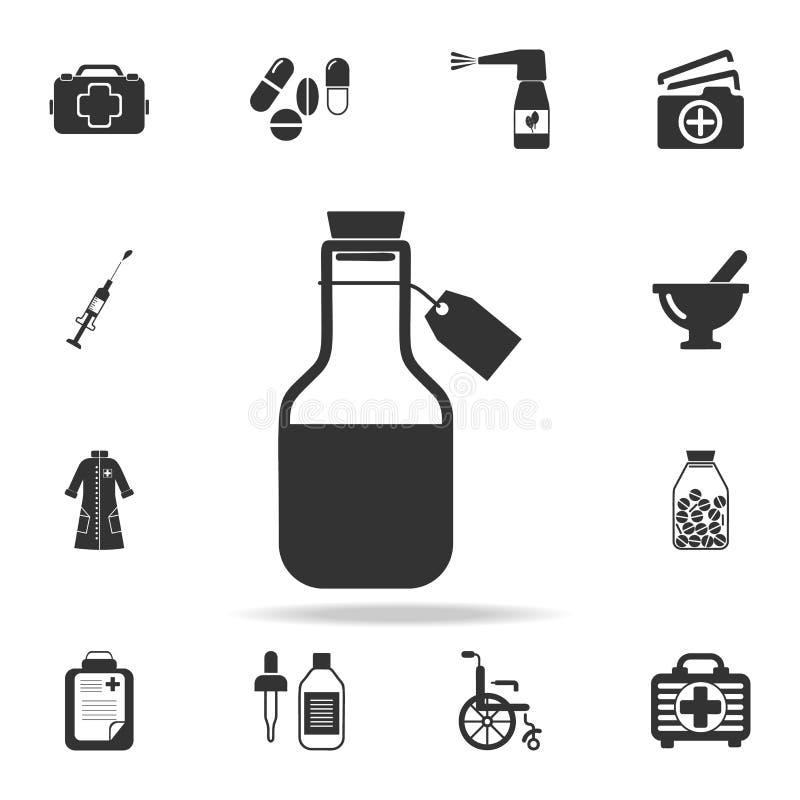 Icono médico del alcohol Sistema detallado del ejemplo del elemento de la medicina Diseño gráfico de la calidad superior Uno de l stock de ilustración