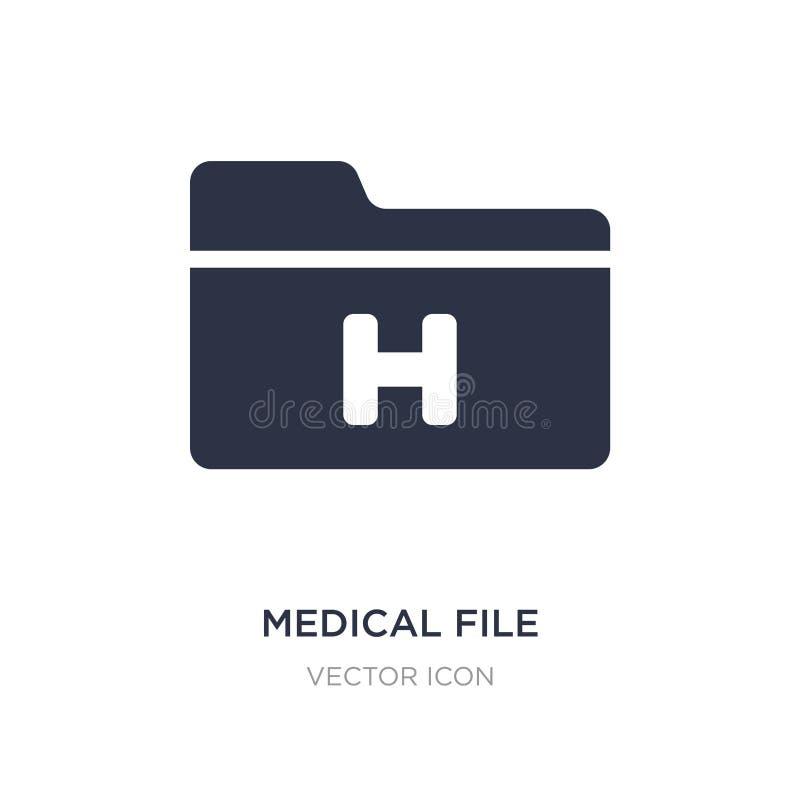 icono médico del fichero en el fondo blanco Ejemplo simple del elemento de la salud y del concepto médico ilustración del vector