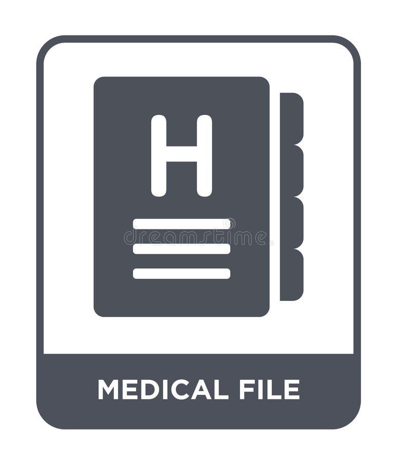 icono médico del fichero en estilo de moda del diseño icono médico del fichero aislado en el fondo blanco icono médico del vector stock de ilustración