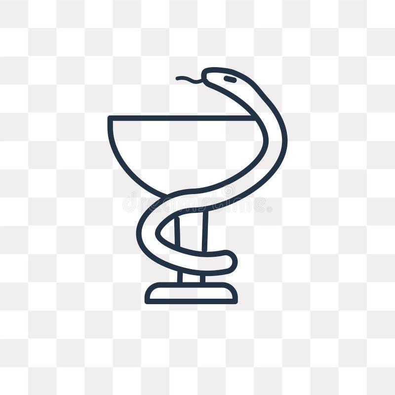 Icono médico del vector aislado en el fondo transparente, M linear ilustración del vector