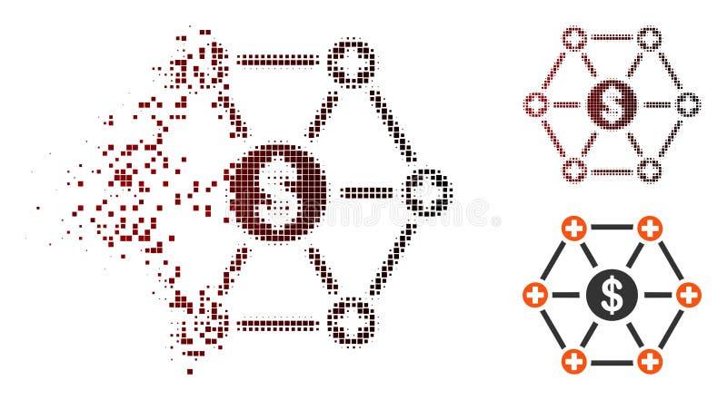 Icono médico financiero de semitono de la red del pixel disipado ilustración del vector