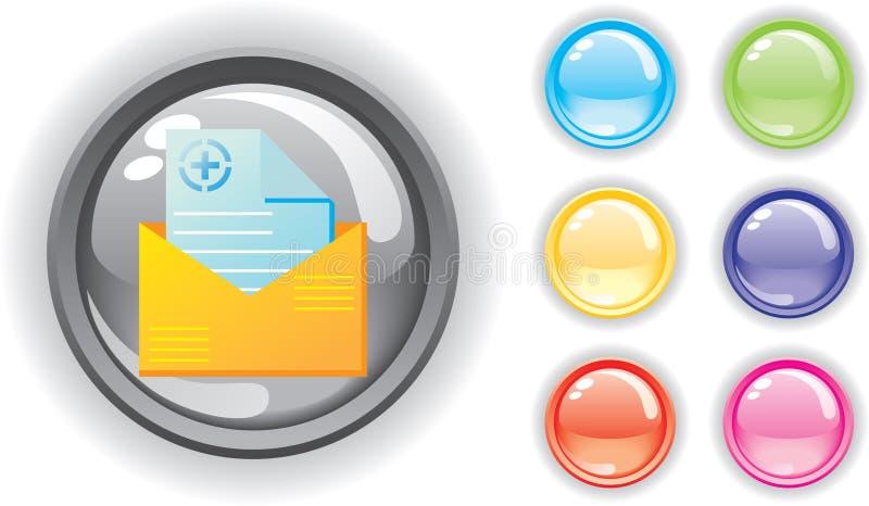 Icono médico y botones coloridos fijados fotos de archivo