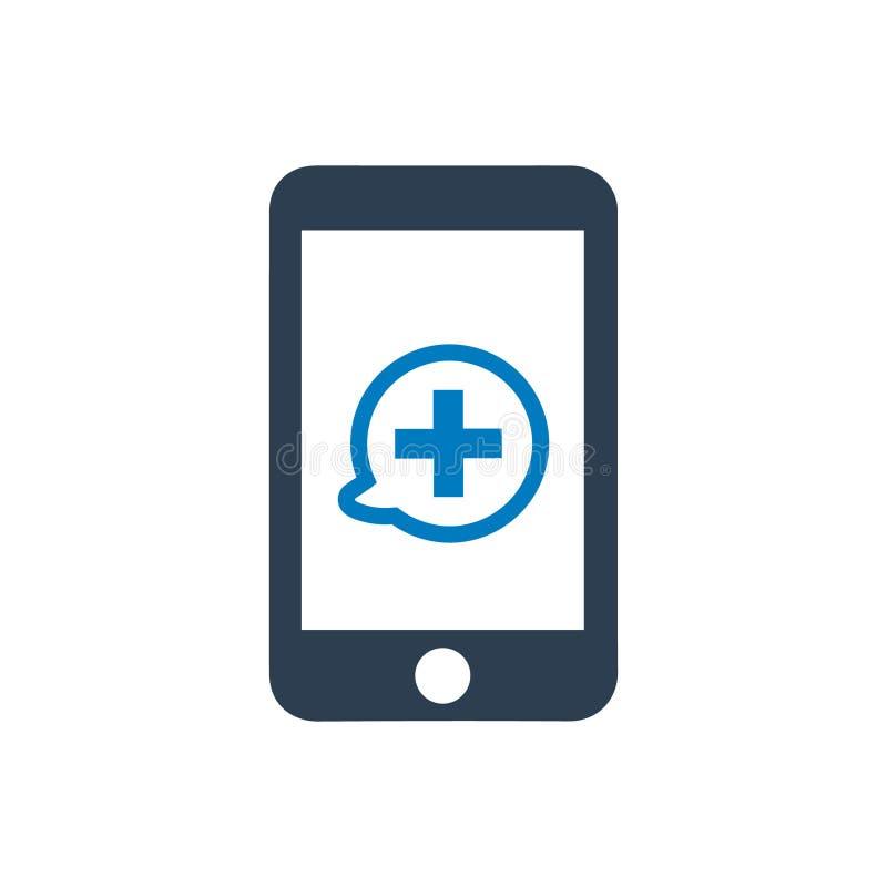 Icono móvil de la atención sanitaria stock de ilustración