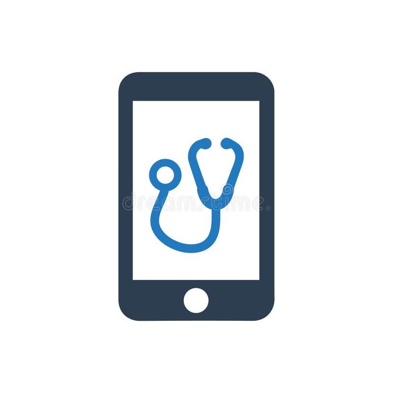 Icono móvil de la atención sanitaria libre illustration