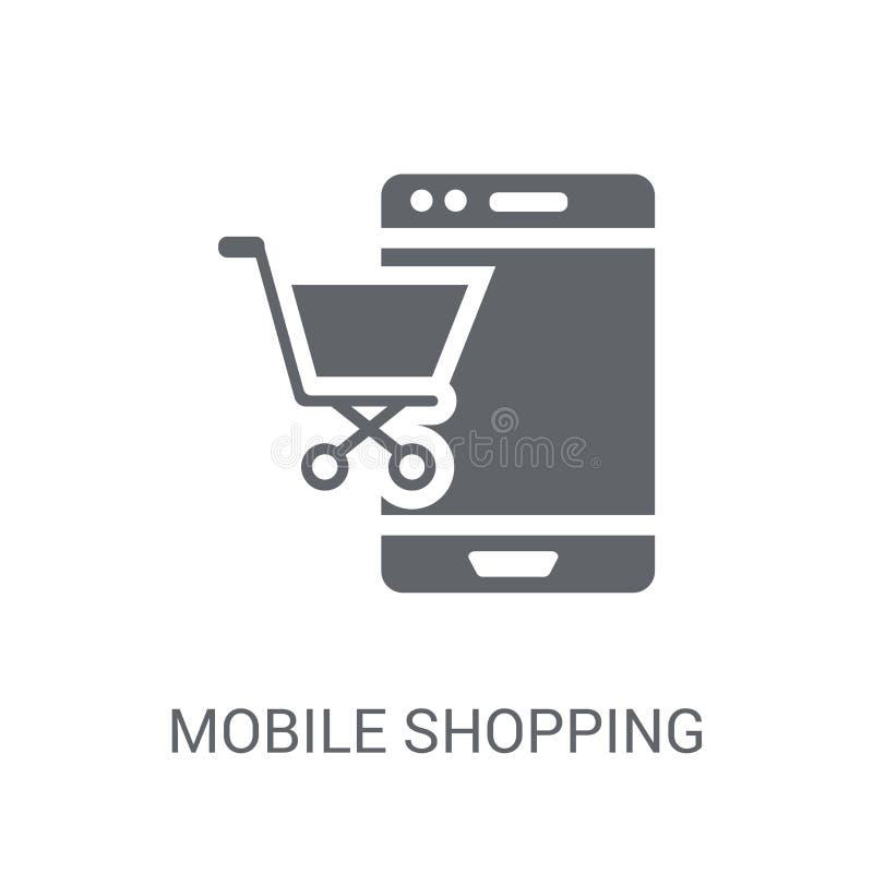 Icono móvil de las compras  libre illustration