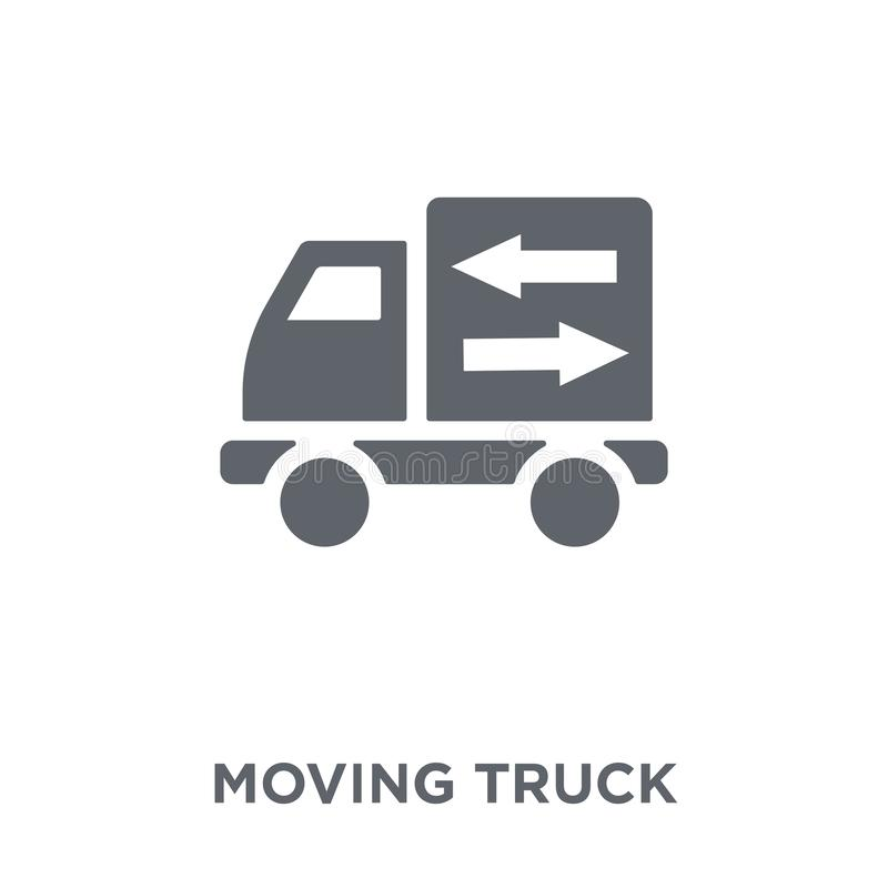 Icono móvil del camión de la colección stock de ilustración