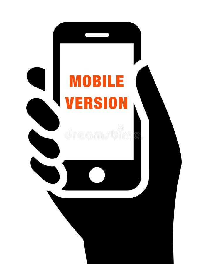 Icono móvil del sitio web stock de ilustración