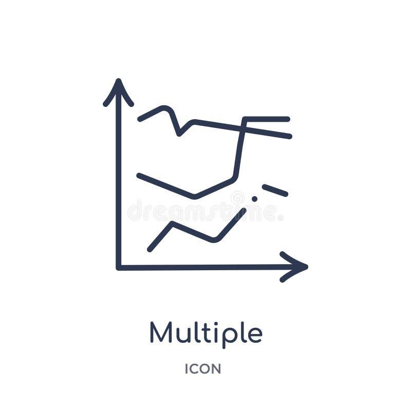 icono múltiple de los puntos variables de la colección del esquema de la interfaz de usuario Línea fina icono múltiple de los pun ilustración del vector