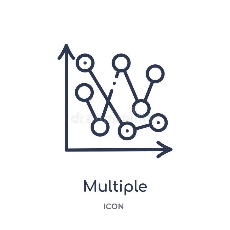 icono múltiple del punto variable de la colección del esquema de la interfaz de usuario Línea fina icono múltiple del punto varia stock de ilustración