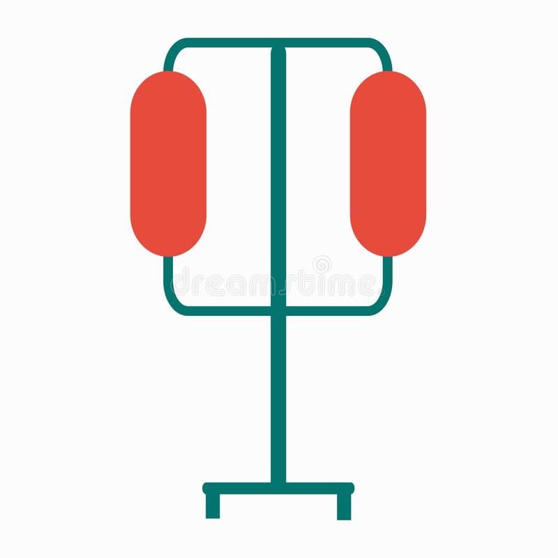 Icono m?dico Ejemplo aislado plano para su diseño web stock de ilustración