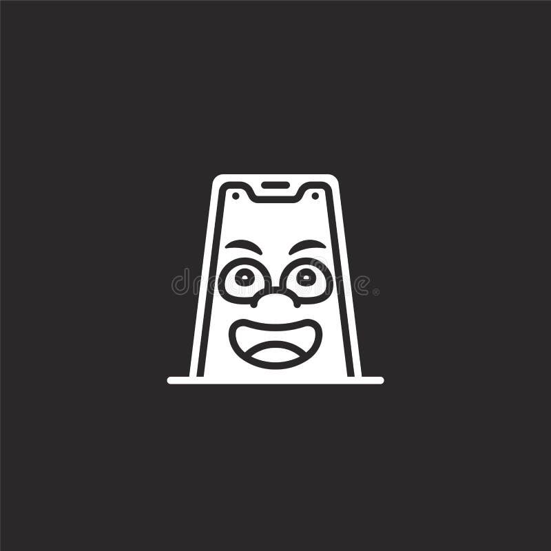 Icono m?vil Icono móvil llenado para el diseño y el móvil, desarrollo de la página web del app icono móvil de la colección linda  ilustración del vector