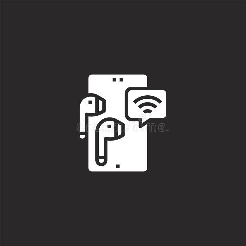 Icono m?vil Icono móvil llenado para el diseño y el móvil, desarrollo de la página web del app icono móvil de la tecnología móvil libre illustration