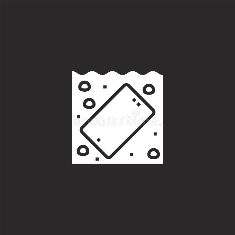 Icono m?vil Icono móvil llenado para el diseño y el móvil, desarrollo de la página web del app icono móvil de la tecnología móvil stock de ilustración