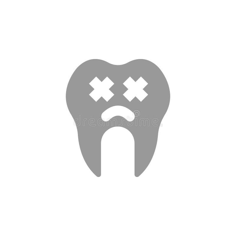 Icono malo y malsano Elemento del icono del cuidado dental para los apps móviles del concepto y de la web El icono malo y malsano ilustración del vector