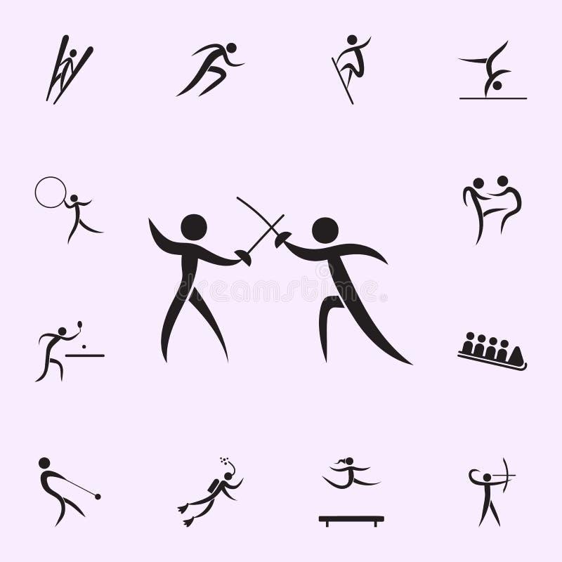 icono mano a mano de la lucha Elementos del icono del deportista Icono superior del dise?o gr?fico de la calidad Muestras e icono ilustración del vector