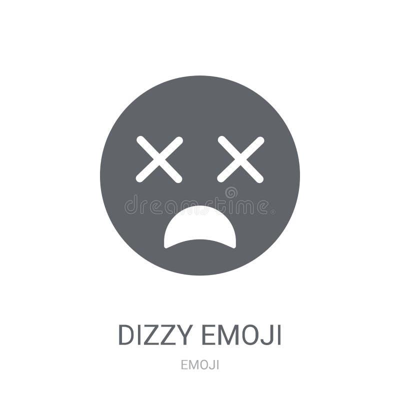 Icono mareado del emoji  stock de ilustración