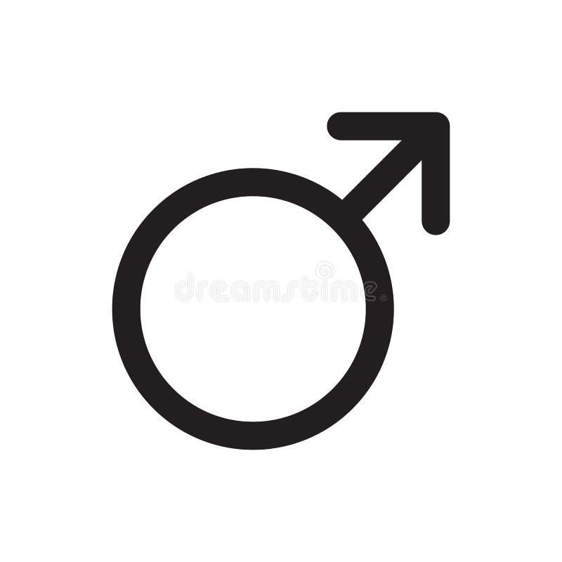 Icono masculino stock de ilustración