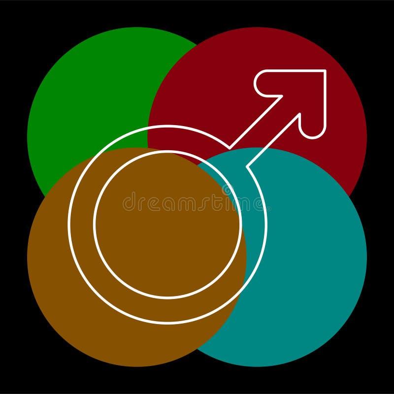 Icono masculino de la muestra Sex symbol masculino stock de ilustración