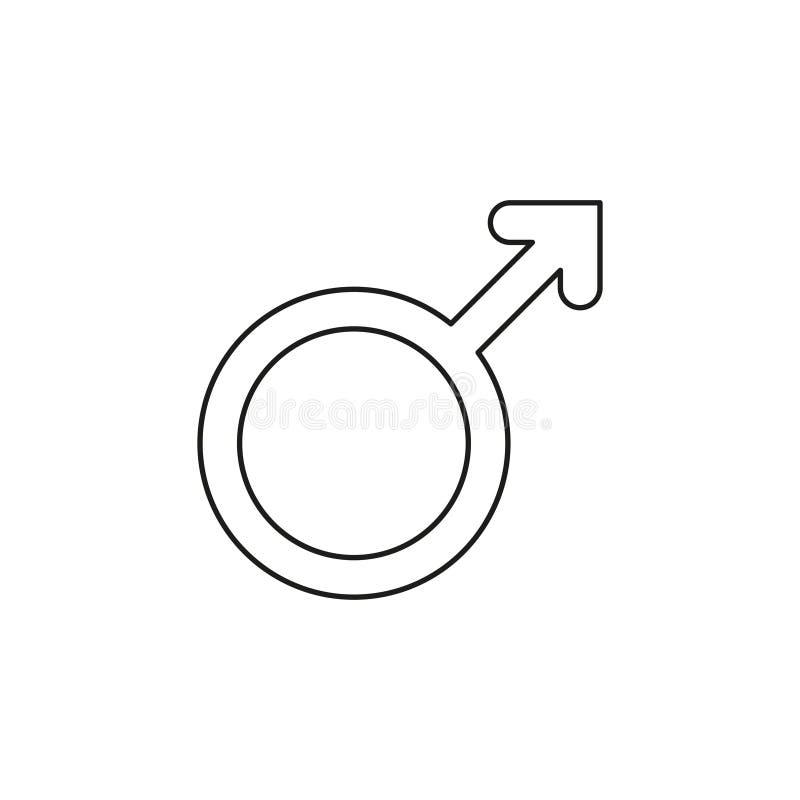 Icono masculino de la muestra Sex symbol masculino libre illustration