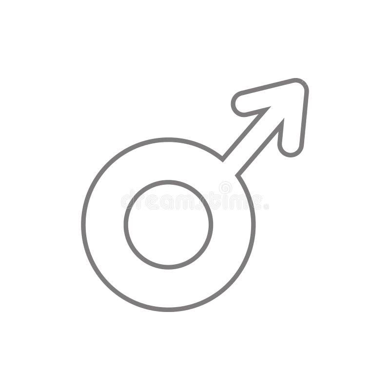 Icono masculino Elemento de la web, minimalistic para el concepto y el icono móviles de los apps de la web Línea fina icono para  ilustración del vector