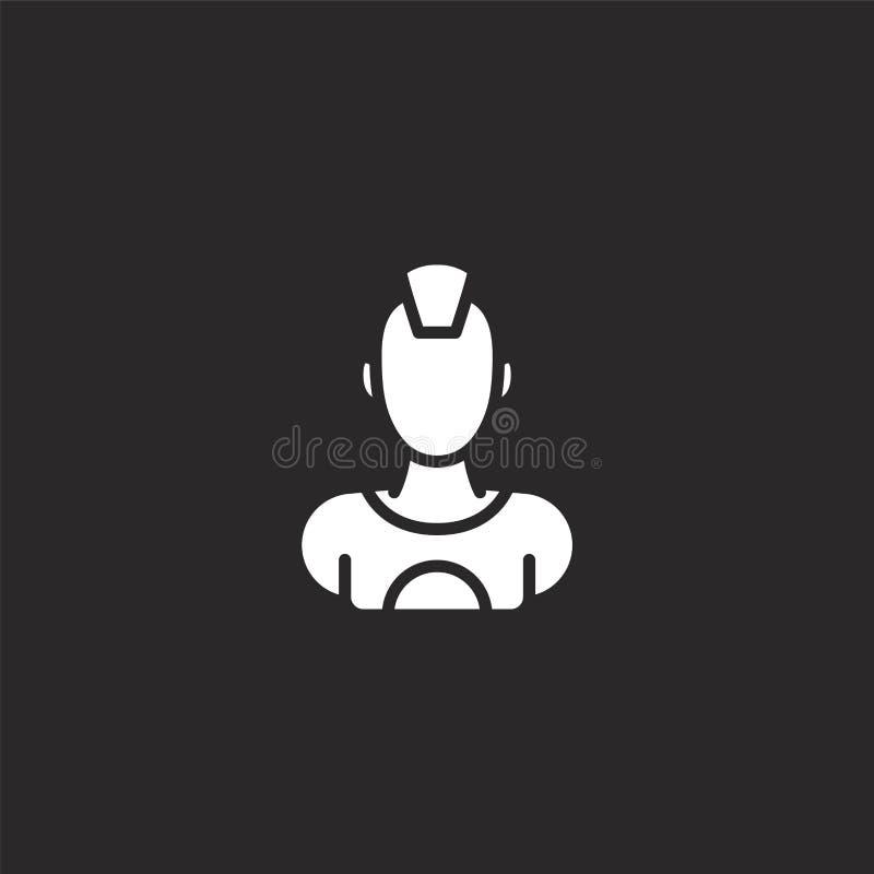 Icono masculino Icono masculino llenado para el diseño y el móvil, desarrollo de la página web del app icono masculino de la cole libre illustration