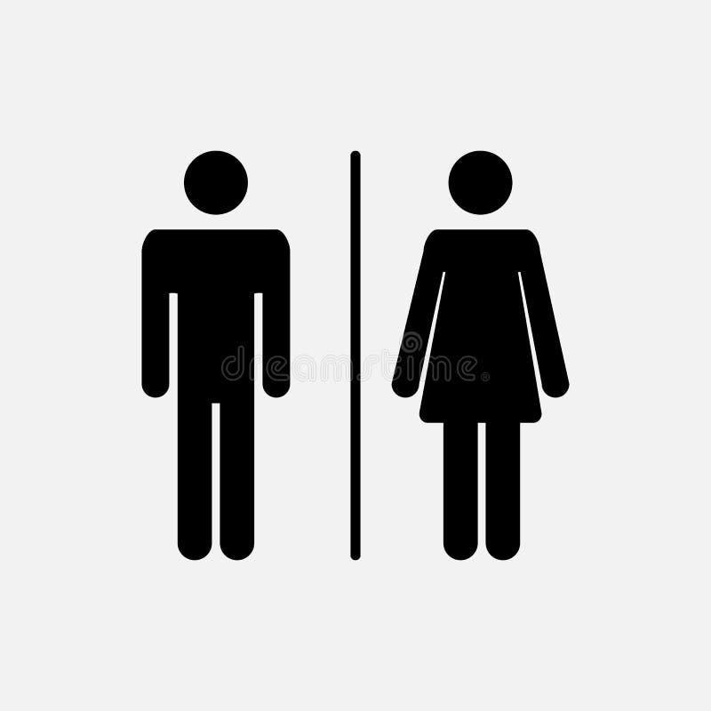 Icono masculino y femenino ilustración del vector
