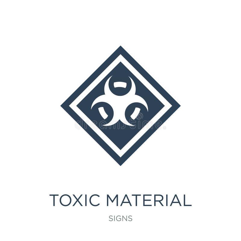 icono material tóxico en estilo de moda del diseño icono material tóxico aislado en el fondo blanco icono material tóxico del vec stock de ilustración