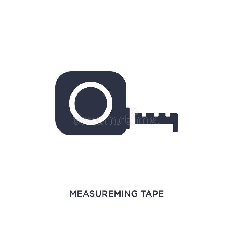 icono measureming de la cinta en el fondo blanco Ejemplo simple del elemento del concepto de la medida ilustración del vector