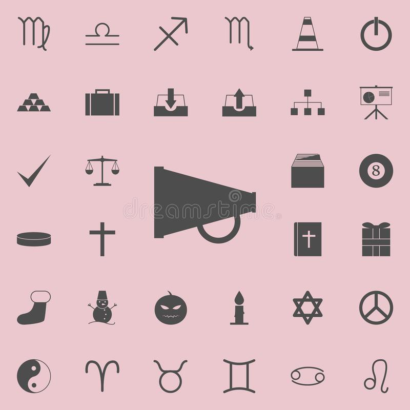 icono mecánico del megáfono Sistema detallado de iconos minimalistic Muestra superior del diseño gráfico de la calidad Uno de los libre illustration